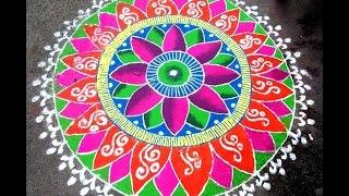 Rangoli on hindu new year 2014