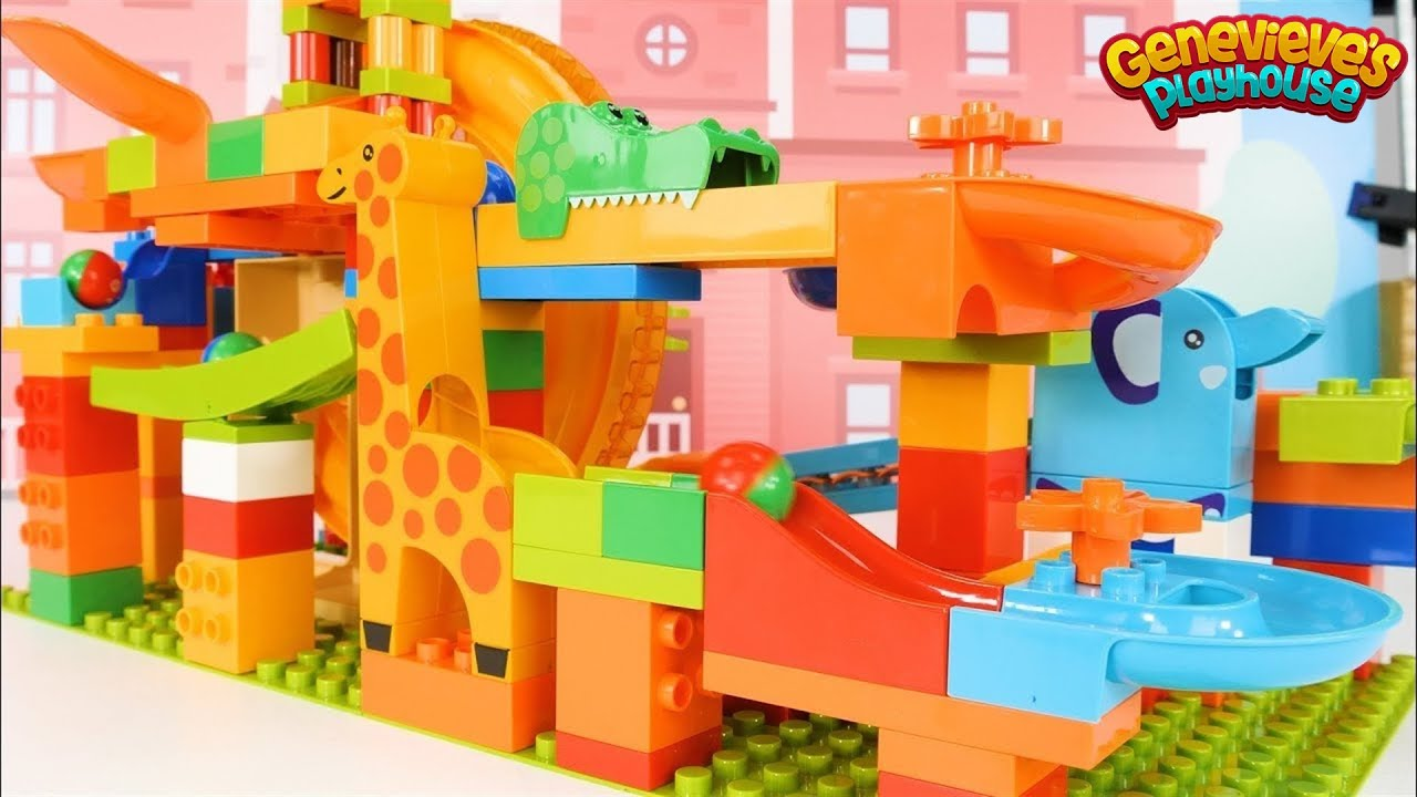Let's Build a Fun Marble Maze out of Building Blocks!