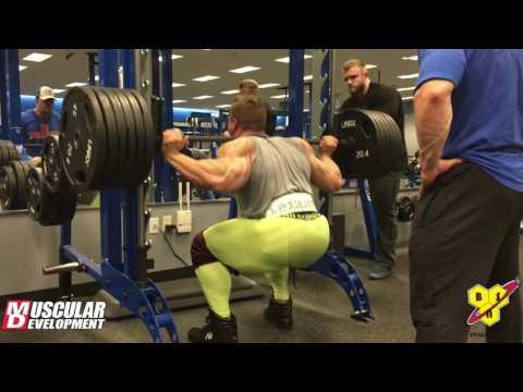 Dallas McCarver's 7.5 Week Out Leg Workout - Quad Focus