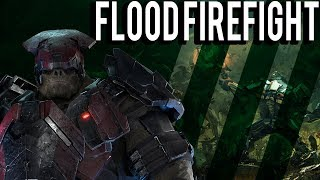 FIGHT THE FLOOD! FLOOD FIREFIGHT GAMEPLAY - HALO WARS 2
