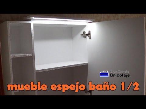 Cmo hacer un mueble con espejo para el bao 12  YouTube