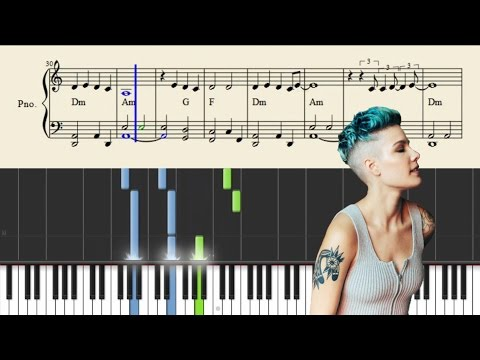 Halsey - I Walk The Line - EASY Piano Tutorial + SHEETS
