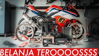 BELANJA Parts Modifikasi! - Honda CBR250RR Black Freedom #dimvlog 323