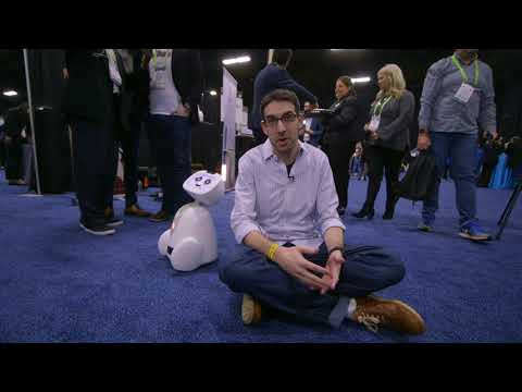 Download Youtube: Blue Frog's dancing Buddy companion robot hands-on