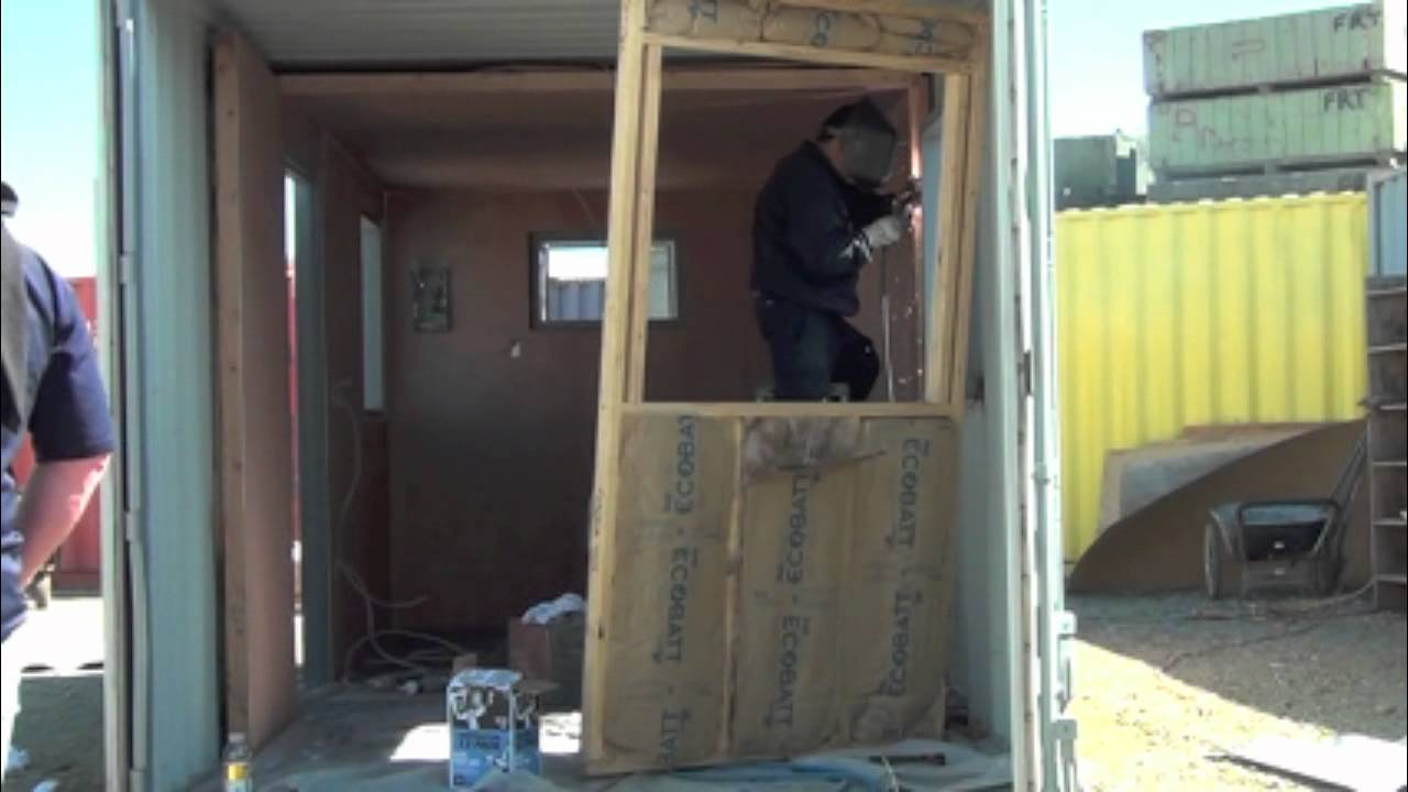 shipping container office conversion - youtube