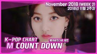 [랭킹연구소] 엠카운트다운 랭킹 11월 2주차 :: K-POP MCOUNTDOWN CHART | November 2018 (WEEK 2)