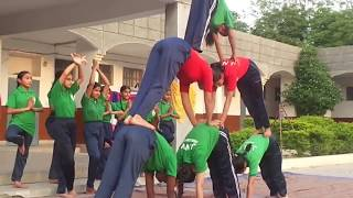 J. N. V. Girls Yoga with music