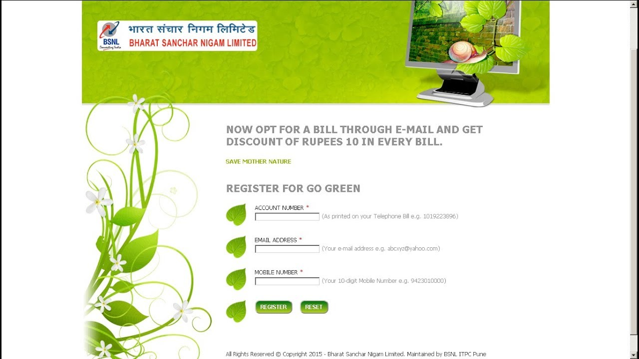 Image result for Save 10 Rs. On Every Bill you get from BSNL