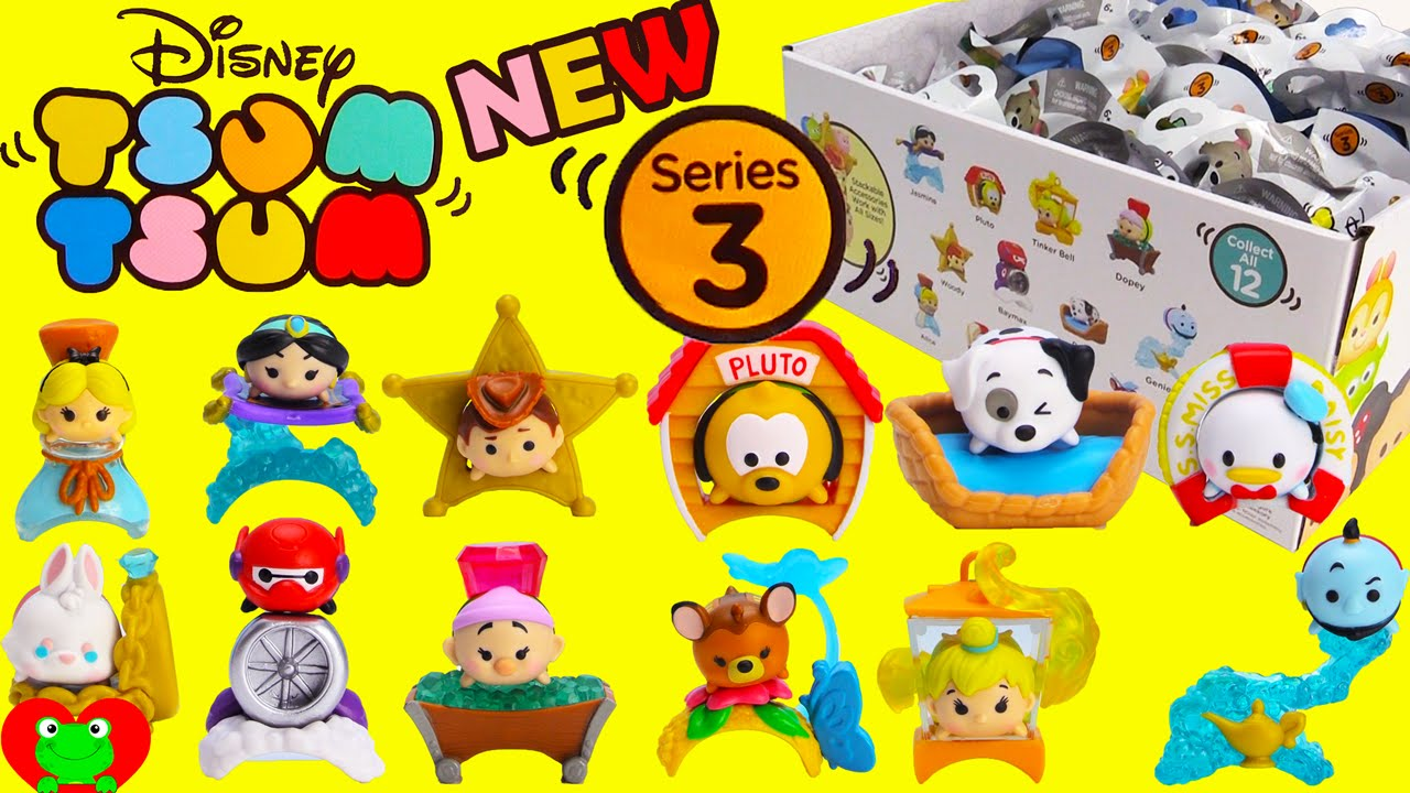 New Disney Tsum Tsum Mystery Pack Series 3 Youtube