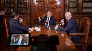 Primera entrevista en Palacio Nacional para Grupo ACIR