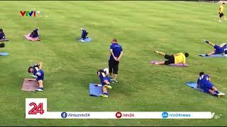 Tập luyện cùng HLV PARK HANG SEO của U23 Việt Nam | VTV24