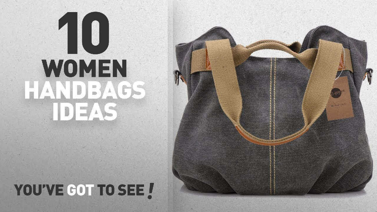 549a6163bb Top 10 Canvas Handbag [ Winter 2018 ]: Z-joyee Women's Ladies Casual ...