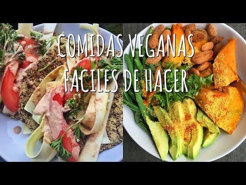 3 COMIDAS VEGANAS FÁCILES DE HACER - Recetas Saludables ?