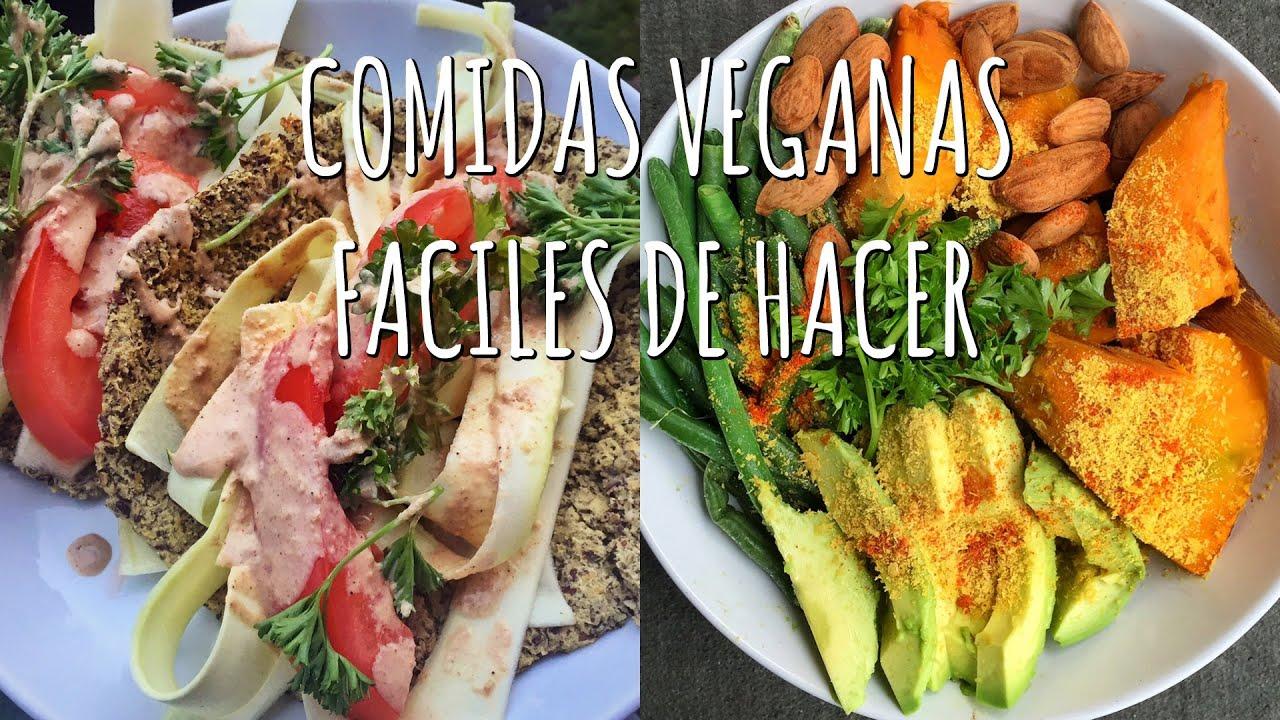 3 comidas veganas f ciles de hacer recetas saludables for Resetas para preparar comida