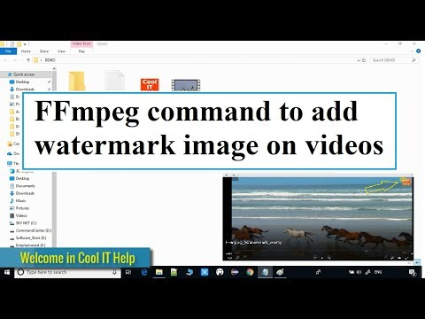 FFmpeg command to add watermark image on video | Overlay filter
