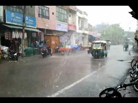 Monsoon Rain in Agra