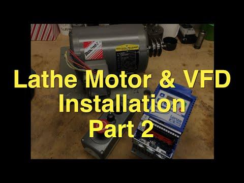 South bend lathe 3 phase motor vfd installation part 2 for Single phase motor vfd