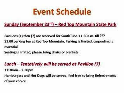 Event Schedule -  Updates