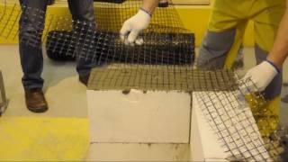 Армирование базальтовой сеткой(Армирование газобетонной стены базальтовой сеткой. Кладка из газобетона., 2017-02-16T08:23:37.000Z)