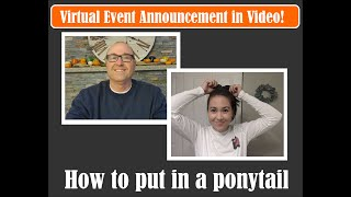 How to put in a ponytail