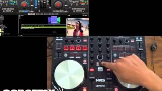 Controlador midi para dj profesional, plug & play, para virtual dj, interfaz con 4 cues