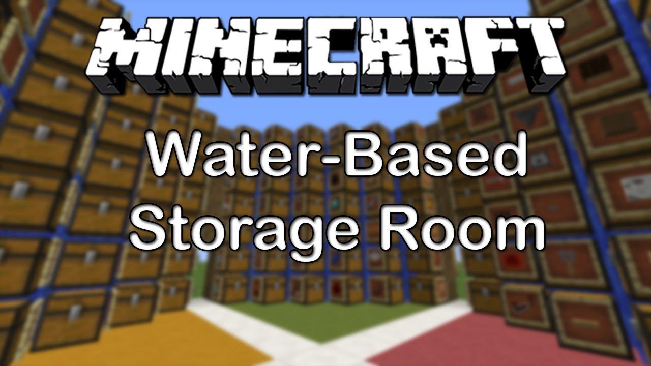 Minecraft 179 Water Based Storage Room TUTORIAL  YouTube