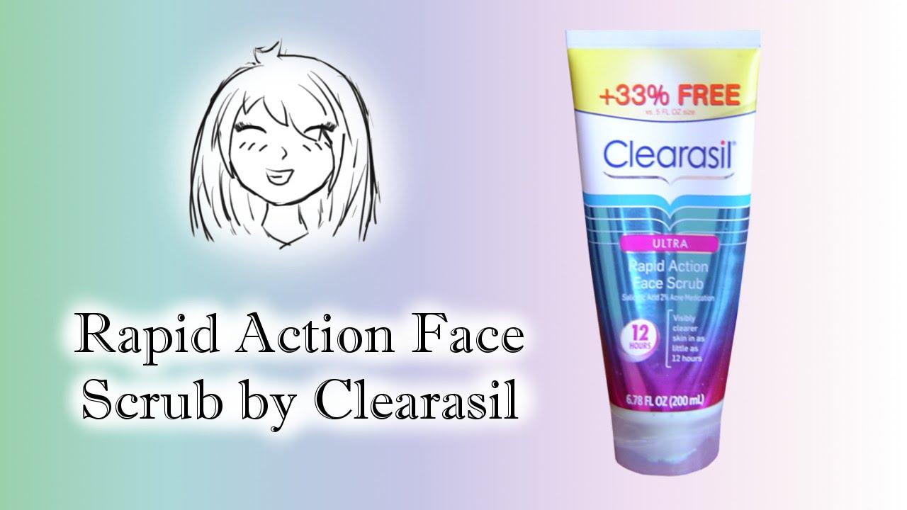 clearasil scrub