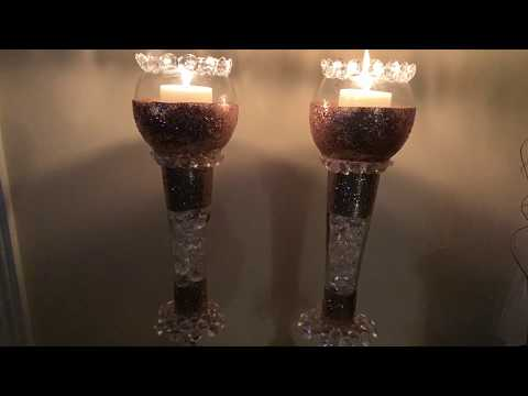 Dollar Tree DIY | Tall Glam Candle Holders