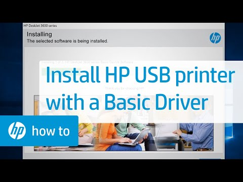 How To Install An HP Printer Using A USB Connection And Basic Driver | HP Printers | HP