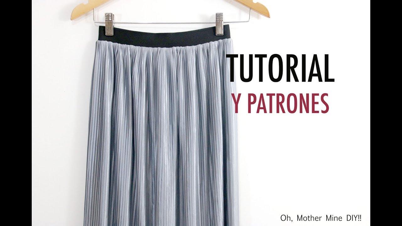 18c04af3f Como hacer falda plisada para mujer (patrones gratis) - Tutoriales ...