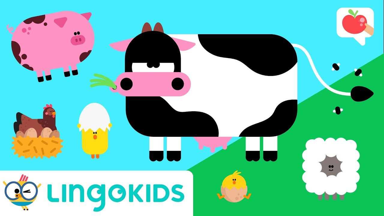 FARM ANIMALS for toddlers 🐮🐷 VOCABULARY, SONGS and GAMES | Lingokids