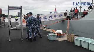 Chinees marineschip op bezoek - Wilhelminakade Rotterdam