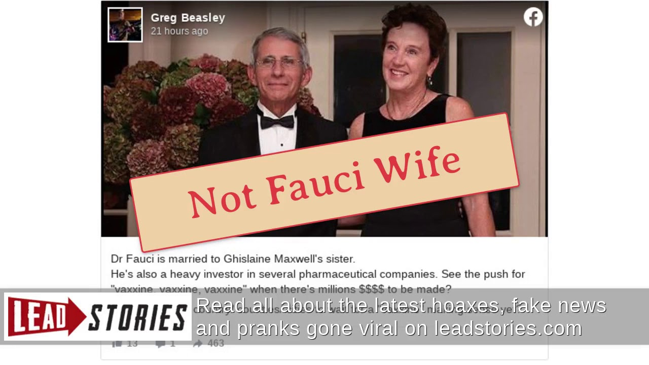 Is Dr. Fauci Married to Ghislaine Maxwell's Sister?