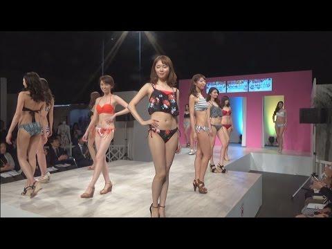 16日、東京・秋葉原で「エイプリル」「シュリーヌ」「ブラックシャーク」の大手老舗水着メーカー3社が合同で2017年の新作水着の発表会を行っ...
