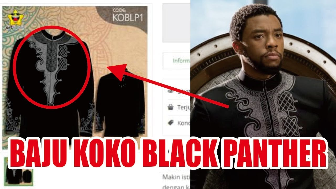 Viral Baju Koko Black Panther Youtube Kok Exclusive