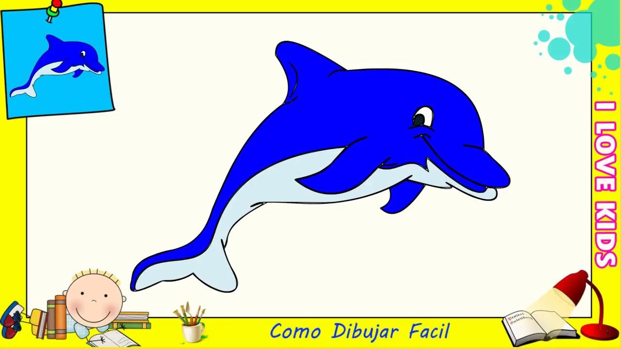 Dibujos De Delfines Faciles Paso A Paso Para Niños Como Dibujar Un Delfin 4 Youtube