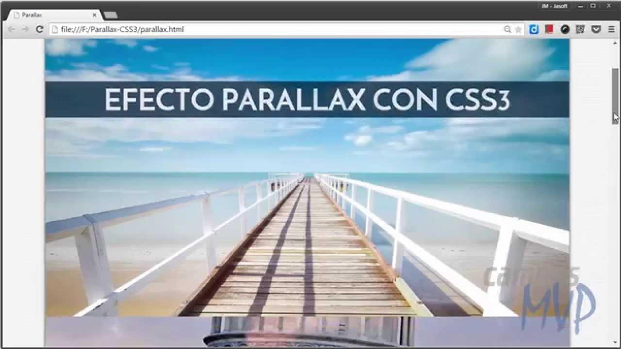Cómo crear el efecto Parallax solo con CSS3 - campusMVP es