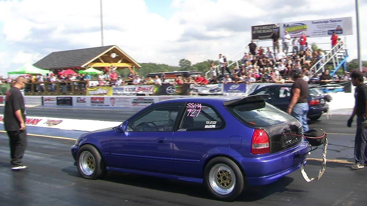 Splitfire Turbo Ek Civic Vs Adams Turbo Eg Civic Youtube