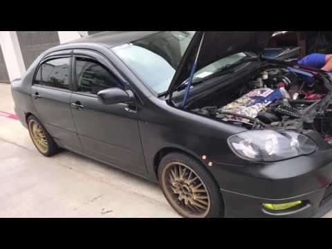 Turbo Charging a 2008 Corolla build part 1 (Oil Change, oil plate adaptor)