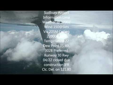 Sudbury Airport ATIS Lima - Real ATC recording June 2014