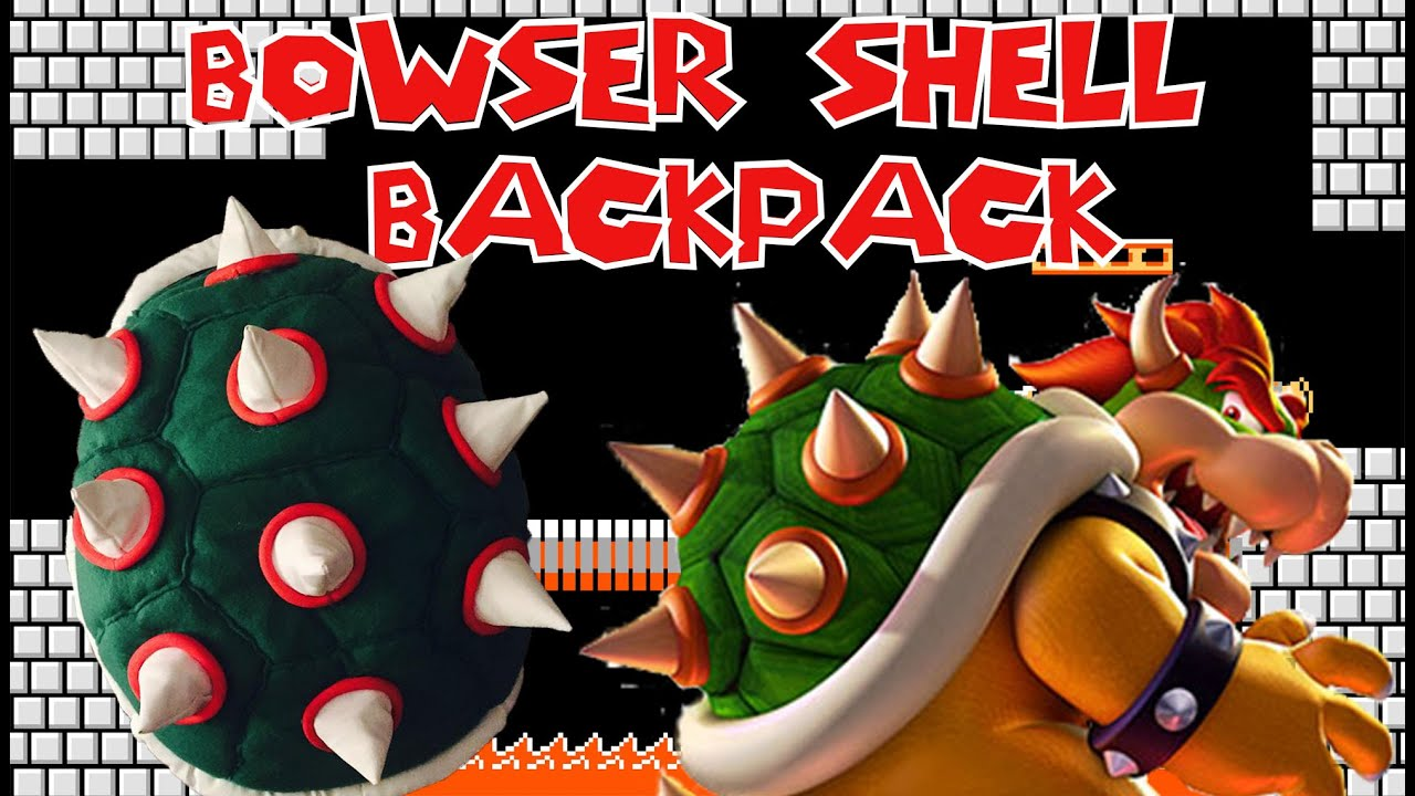 Bowser Shell Backpack - YouTube bf6d11a36e