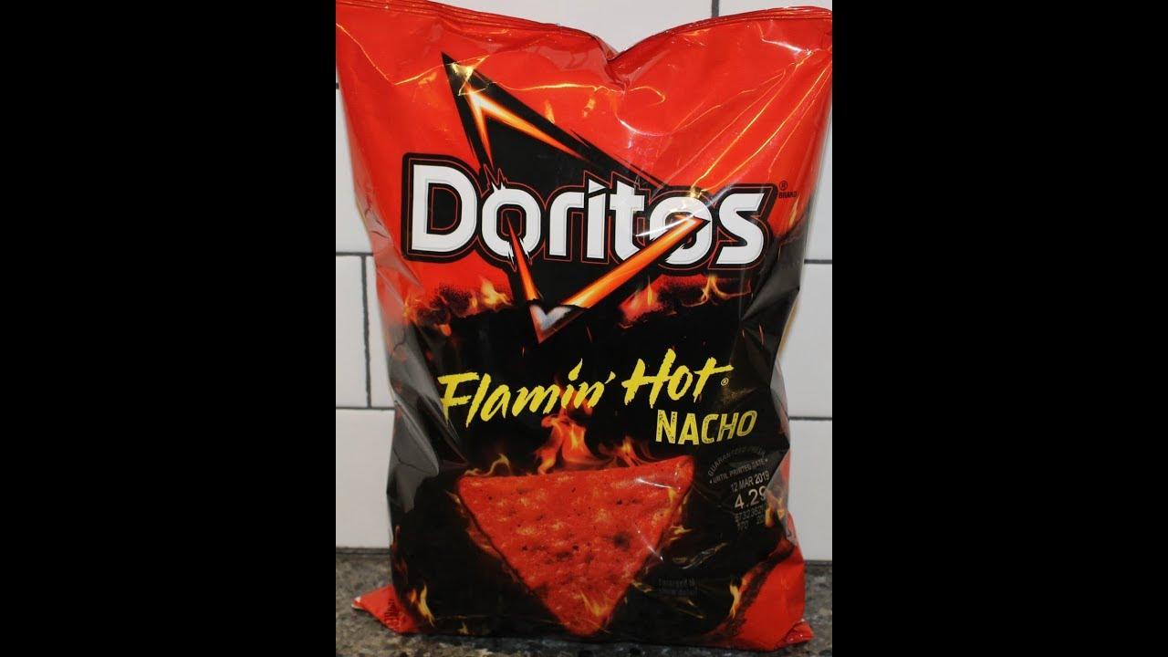 Doritos Flamin Hot Nacho Review Youtube
