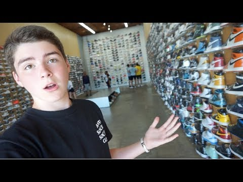 SNEAKER SHOPPING IN LA!!! (+Meeting Shaq!)