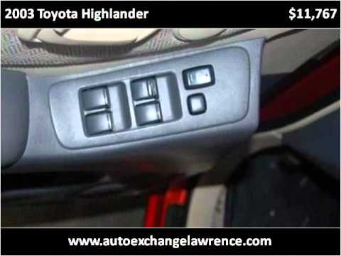 2003 Toyota Highlander Used Cars Lawrence KS