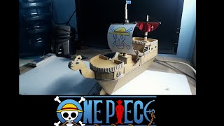 miniatur KAPAL ONE PIECE DARI KARDUS make miniature ships one piece of cardboad