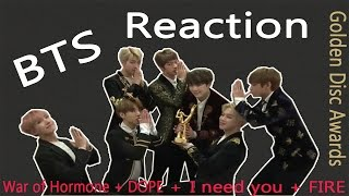 The 31st Golden Disc Awards 2017 BTS - War of Hormone + DOPE + I NEED U + FIRE Reaction