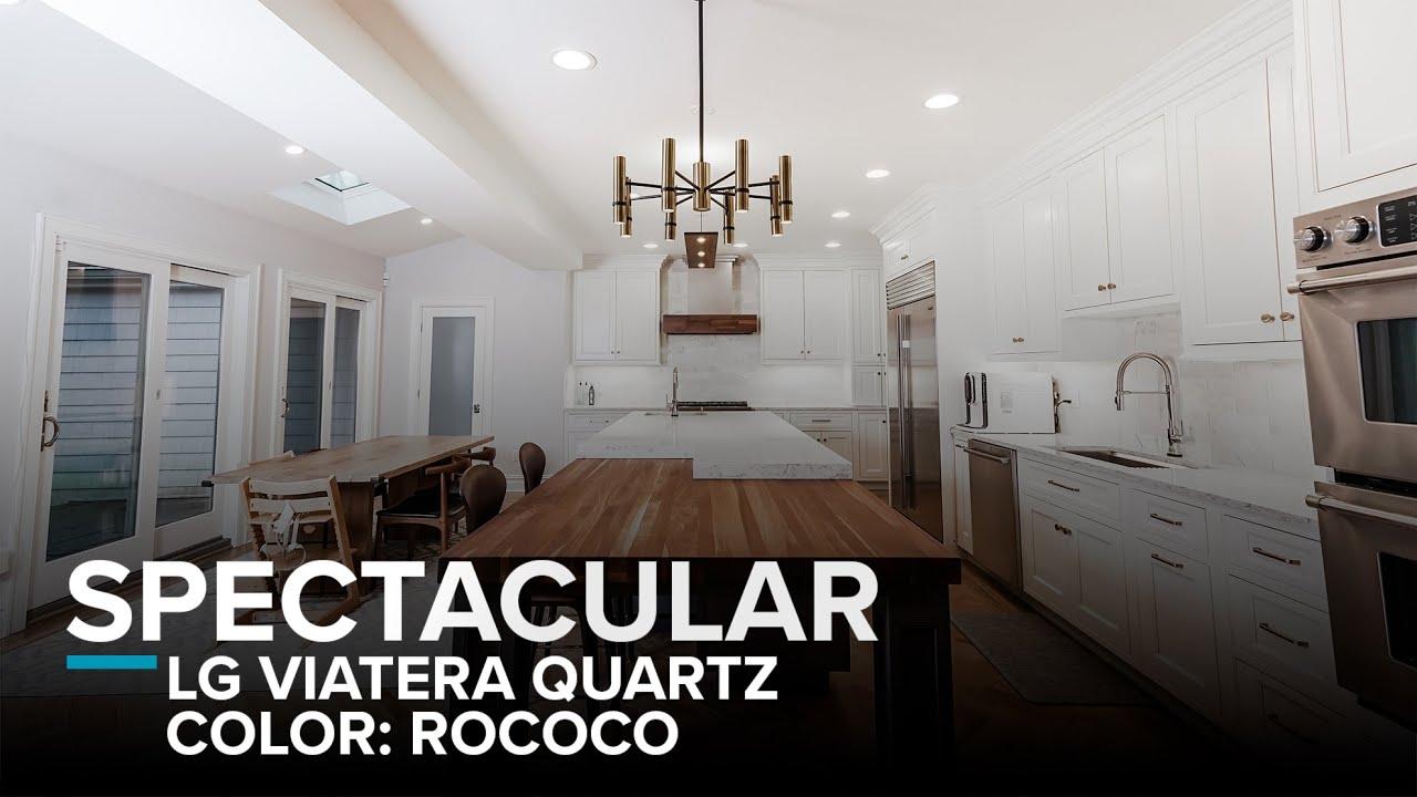 Spectacular Transitional Kitchen Quartz Countertops Lg Viatera Rococo By Faithful