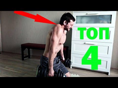 Лучшие упражнения на трапецию с гантелями. Как накачать большие трапеции в домашних условиях.