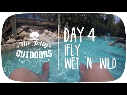 Day 4 - iFly and Wet 'n' Wild - Orlando Florida 2016 Holiday Vlog Video