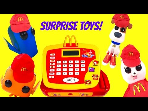 FInding Dory & The Secret Life of Pets Max Gidget Work at McDonald's! Lots of Toy Surprises Compilat